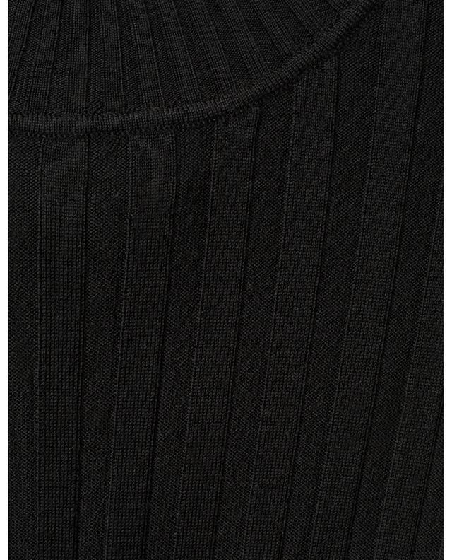 Pull chaussette fin côtelé à col cheminée BONGENIE GRIEDER