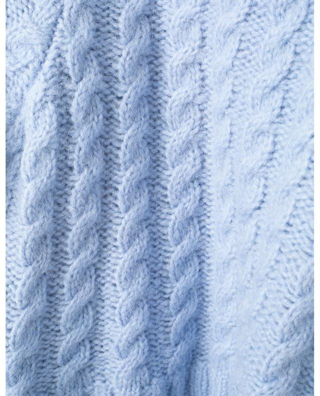 Pull torsadé raccourci en laine et alpaga BONGENIE GRIEDER