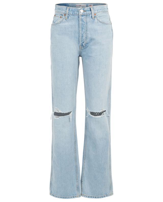 Hoch sitzende Jeans mit Rissen RE/DONE