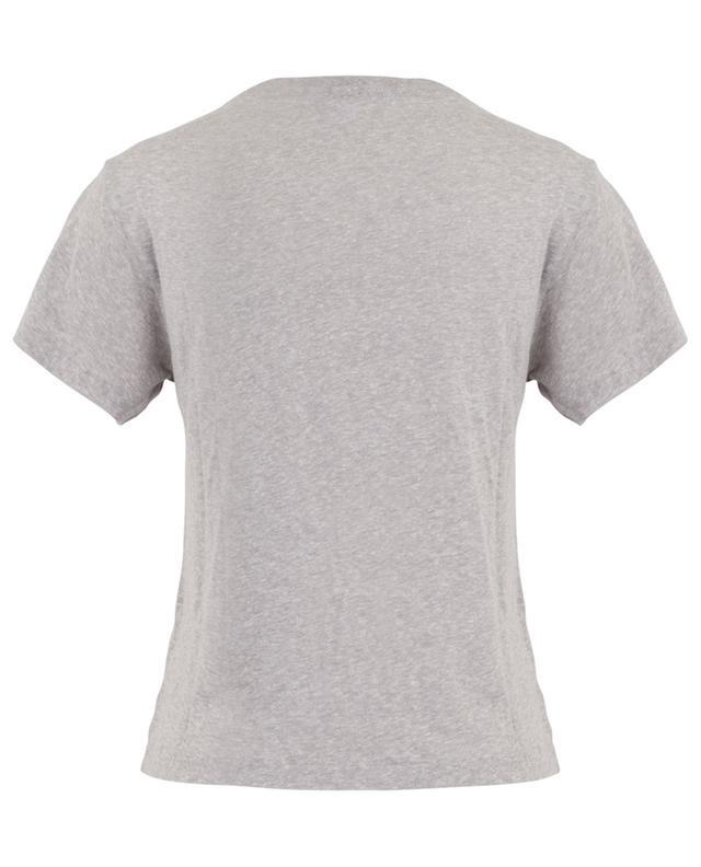 T-shirt en coton mélangé chiné RE/DONE