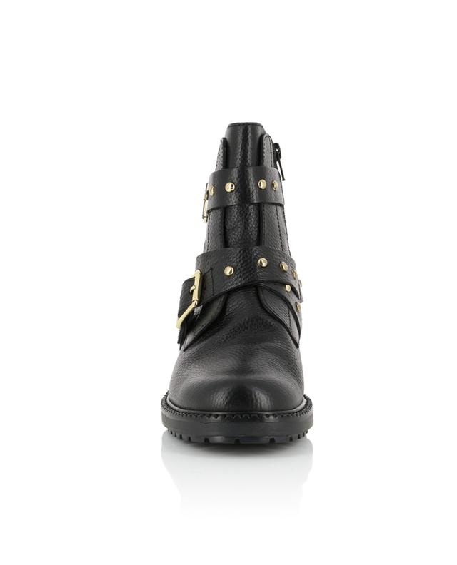 Stinger grained leather biker spirit ankle boots KURT GEIGER LONDON