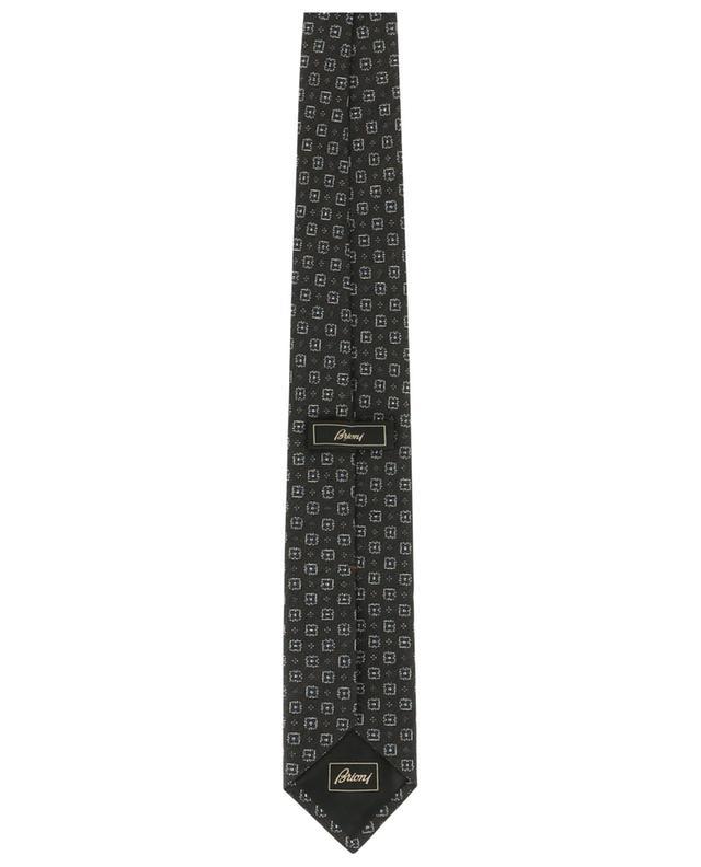 Print wool and silk tie BRIONI