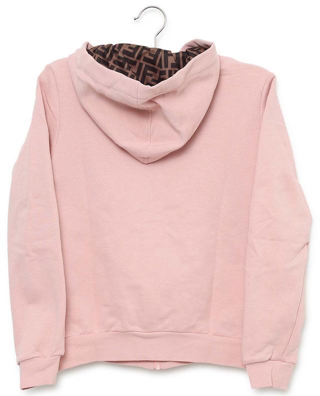 Sweat-shirt zippé en coton brodé FENDI