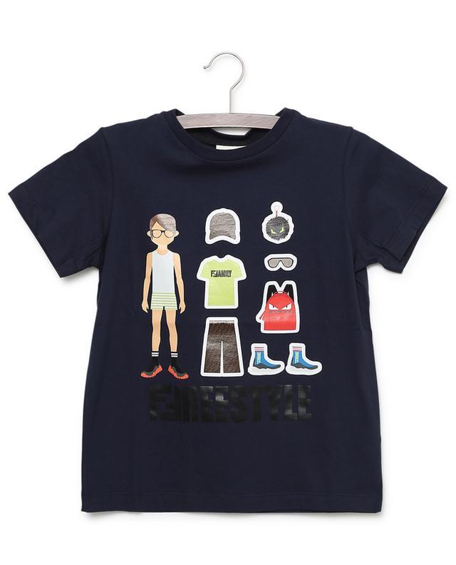 T-shirt en coton imprimé FFamily FENDI