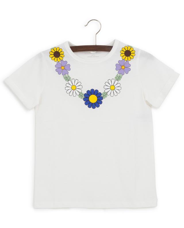 T-shirt en coton imprimé collier de fleurs STELLA MCCARTNEY KIDS