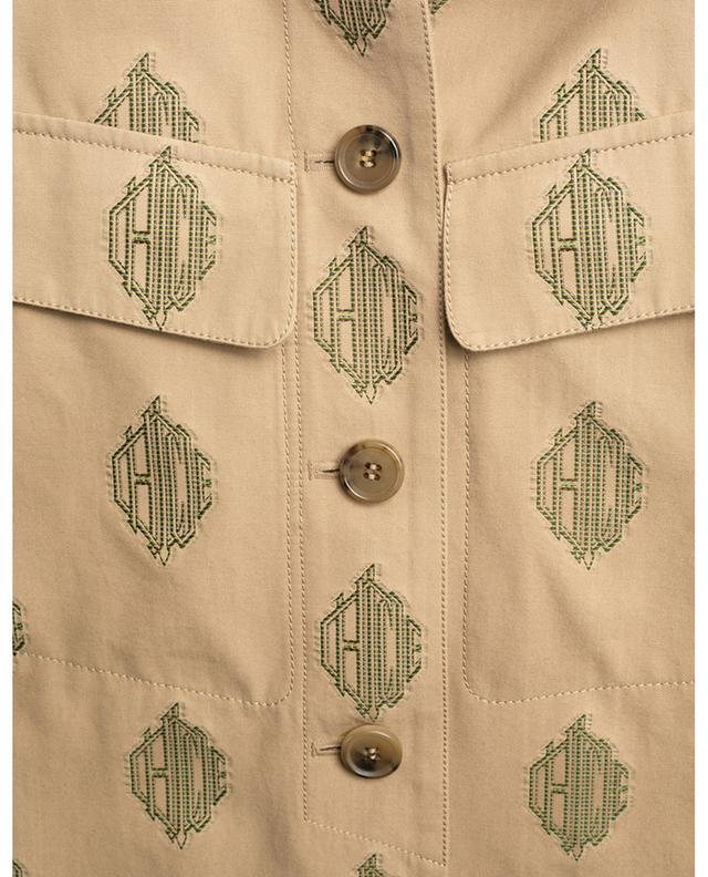 Leichte Jacke in Hemd-Optik aus Logo-Jacquard CHLOE