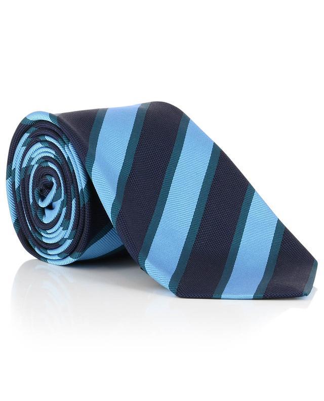 Cravate texturée à rayures diagonales KITON