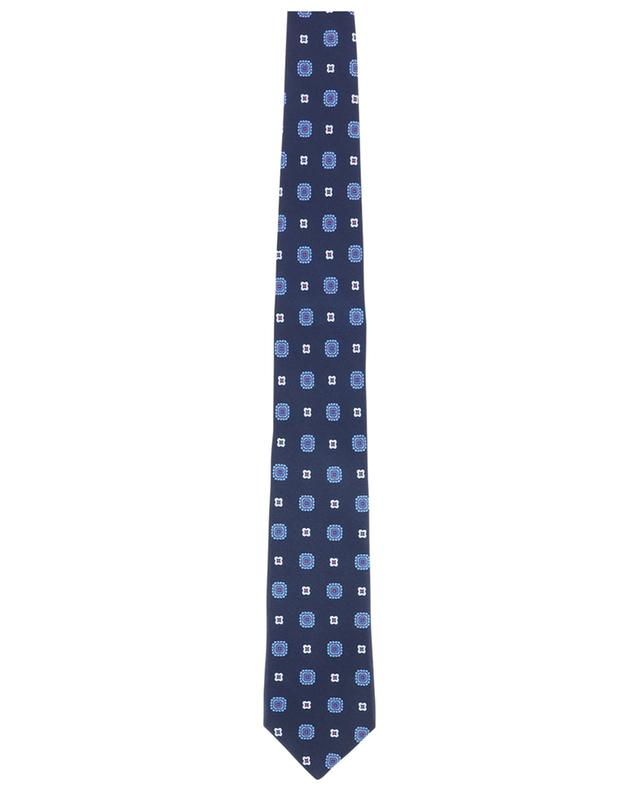 Ribbed flower print tie KITON