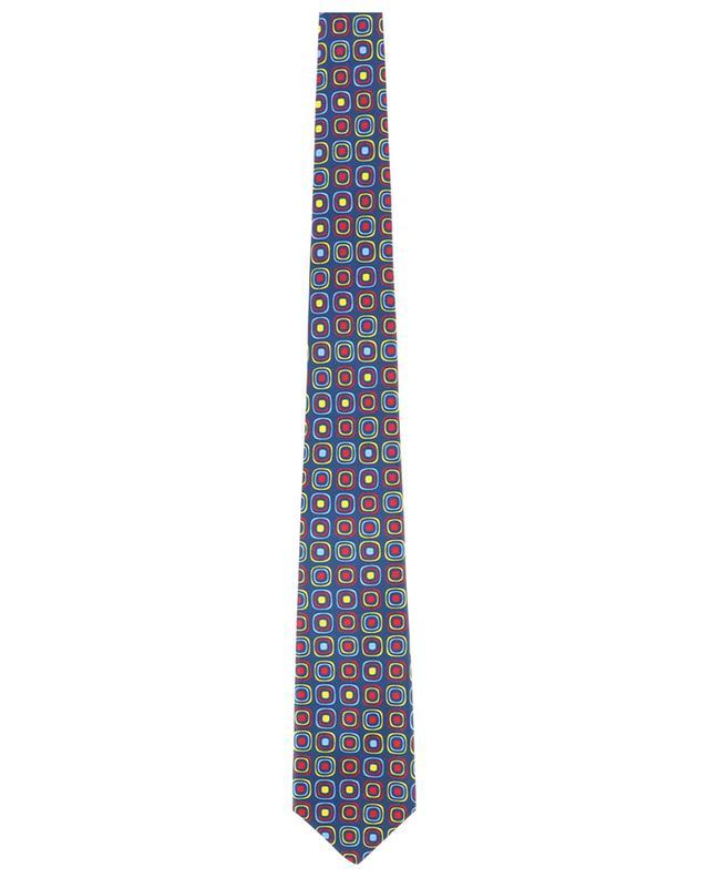 Ribbed square print tie KITON