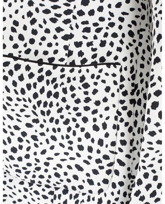 Blazer fluide en crêpe imprimé Leopard Dots MARC CAIN
