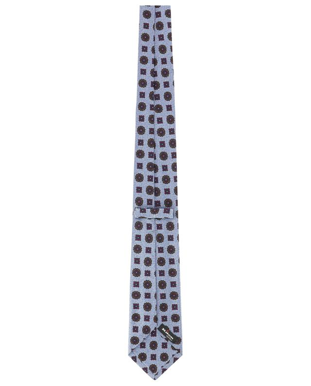 Cravate motif chevrons et fleurs KITON