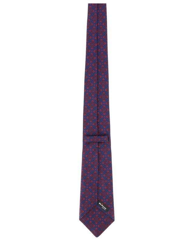 Textured silk tie with flower print KITON
