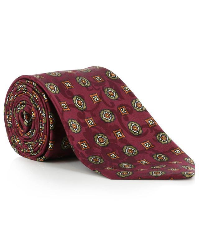 Floral jacquard tie with flower print KITON
