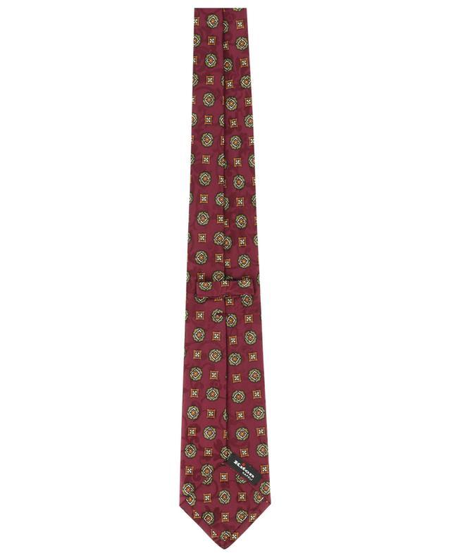 Cravate en jacquard fleuri imprimée fleurs KITON