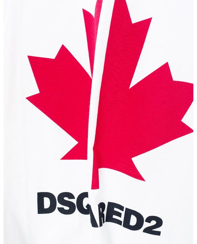 T-Shirt aus Baumwolle mit Print Maple Leaf DSQUARED2