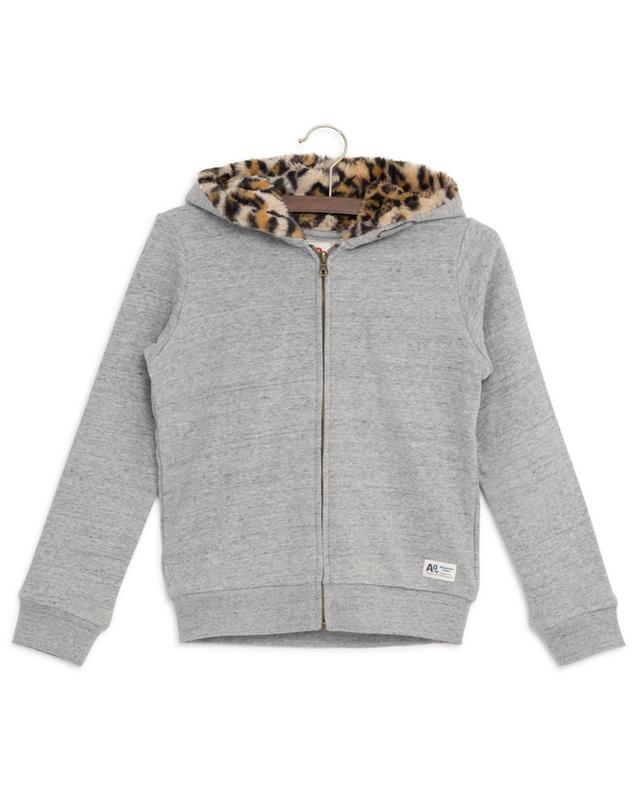 Sweat-shirt zippé à capuche Leopard AO76