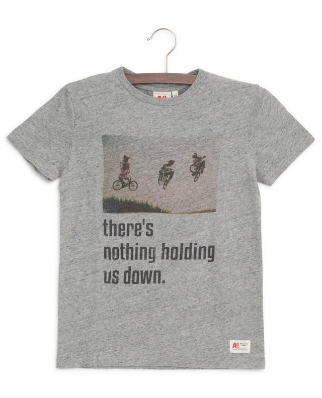 Bikes print cotton T-shirt AO76