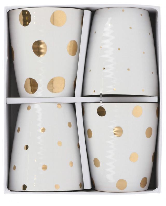 Set de 4 mugs Gold Dotted KLEVERING