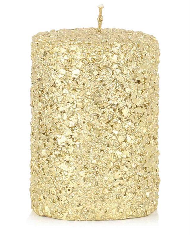 Goldene Stumpenkerze Glitter Small KLEVERING