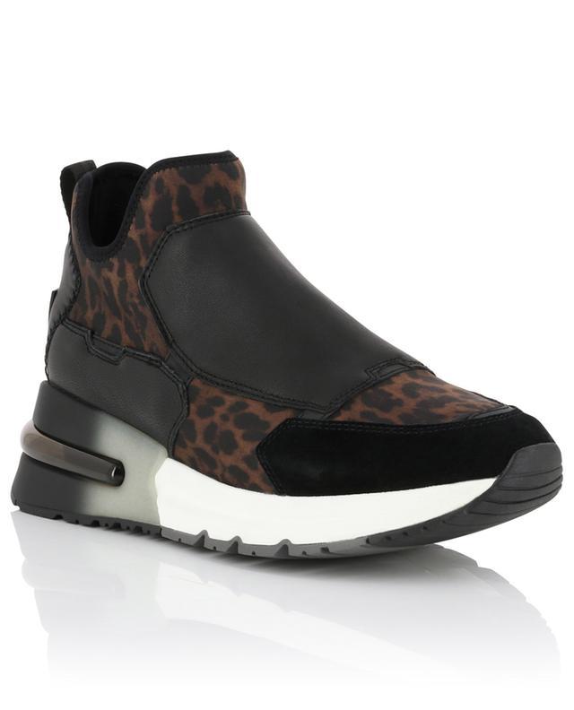 Krystal leopard leather slip-on sneakers ASH