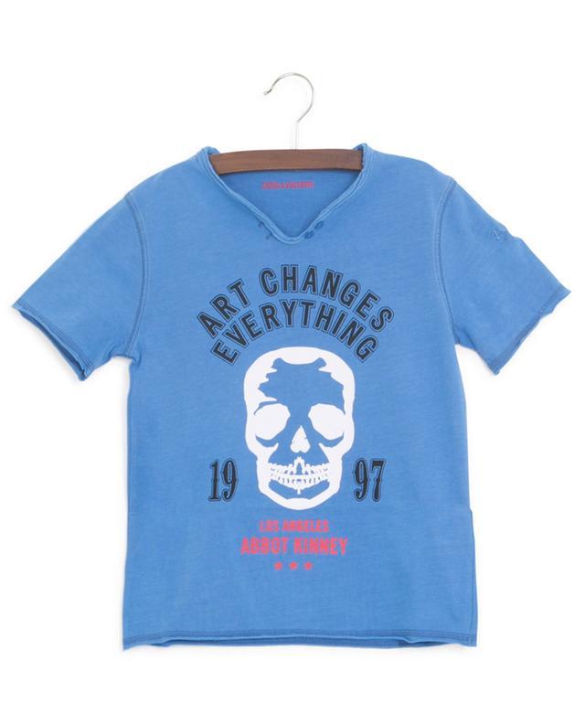 T-shirt en jersey imprimé slogan et crâne Boxer ZADIG & VOLTAIRE