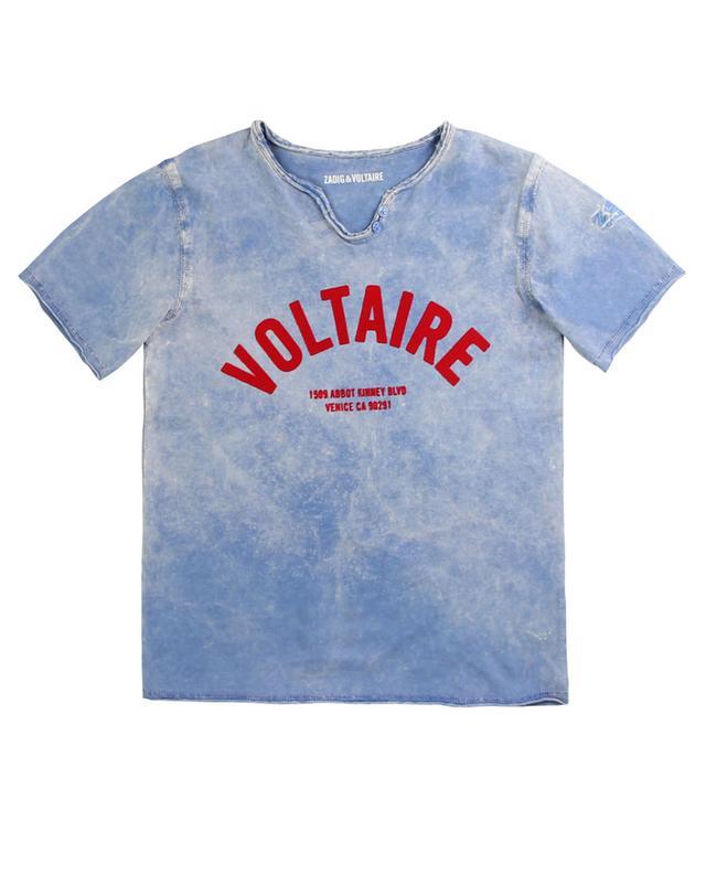 T-shirt col tunisien en jersey Boxer ZADIG & VOLTAIRE