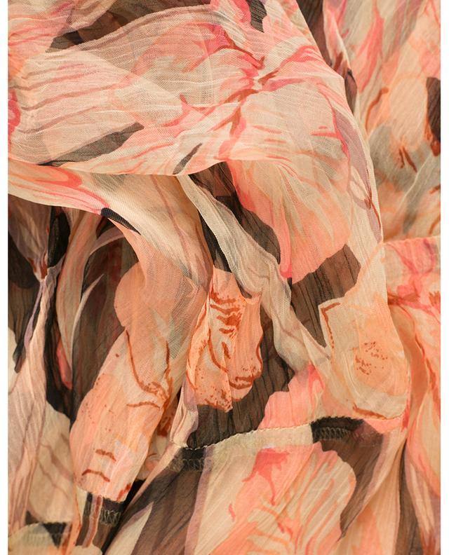 Clematis asymmetrical floral midi skirt MES DEMOISELLES
