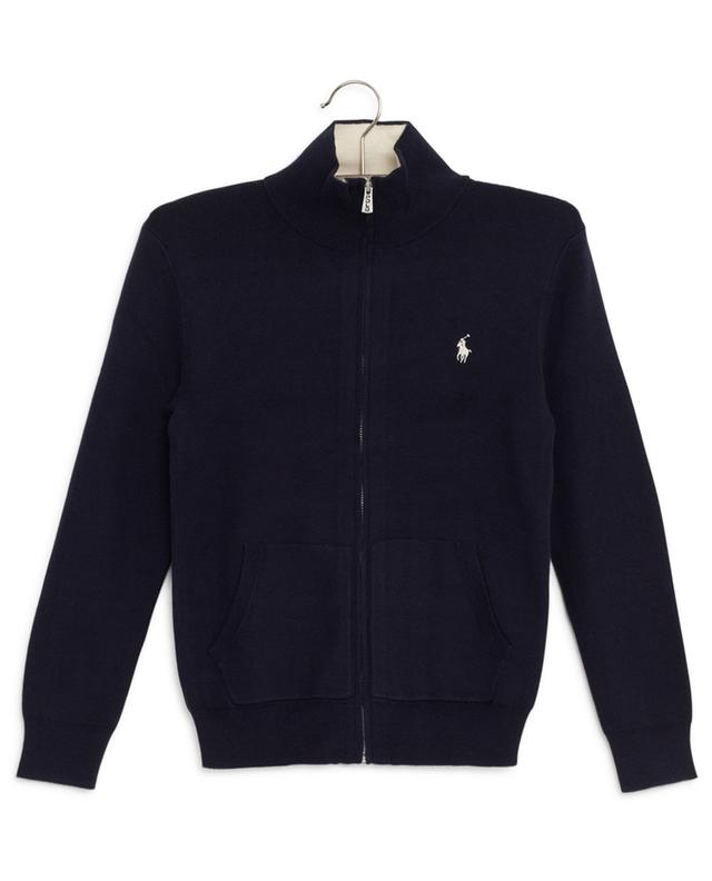 Pony embroidered zippered fine cardigan POLO RALPH LAUREN