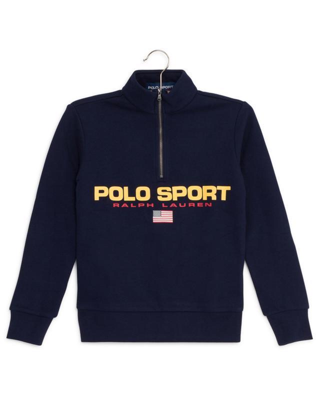Sweat-shirt en coton avec col montant zippé POLO RALPH LAUREN