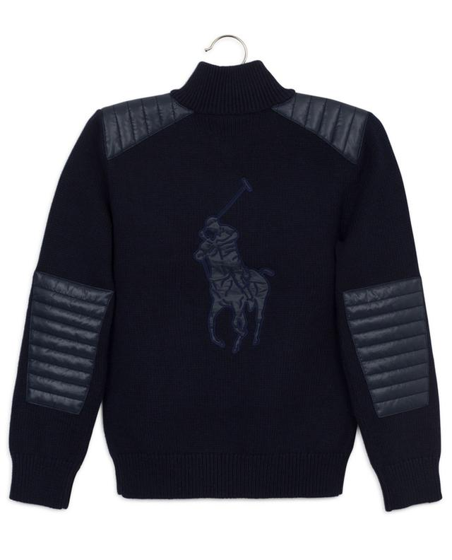 Polo Player jumper with high neck and quilted yokes POLO RALPH LAUREN