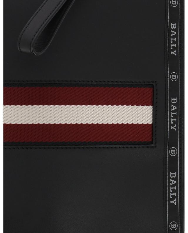 Trousse zippée en cuir avec Bally Stripe Hartland BALLY