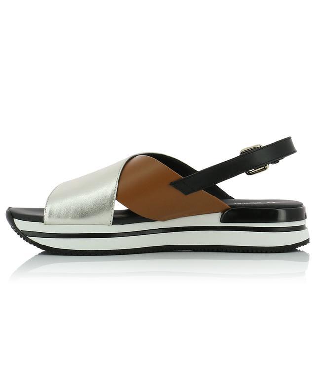 Sandales en cuir lisse et métallisé H222 HOGAN