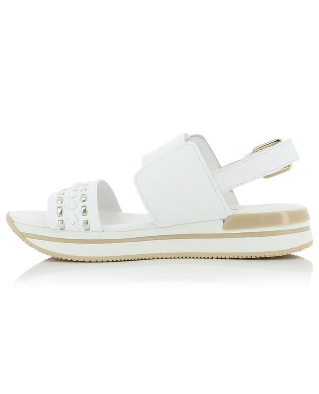 Leather wedge sandals HOGAN