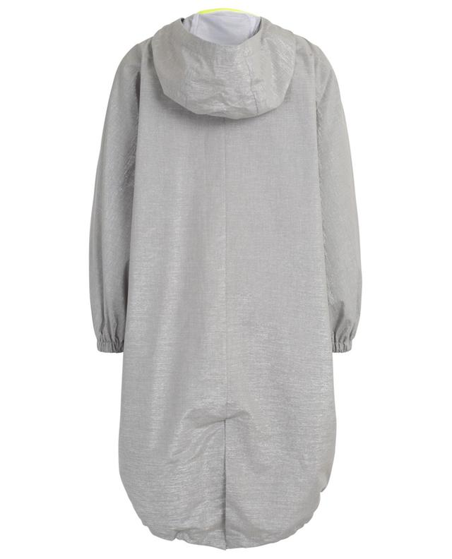Glittering lightweight cotton coat with hood FABIANA FILIPPI
