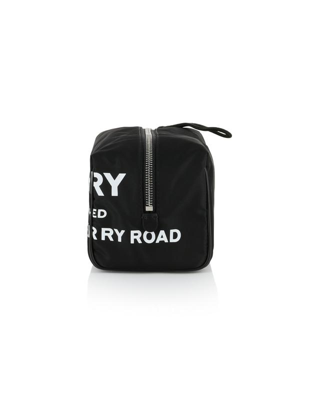 Logo printed nylon toiletry bag BURBERRY
