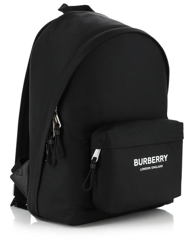 Jett logo print nylon and leather backpack BURBERRY