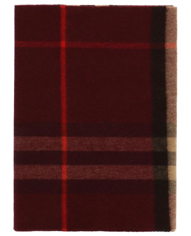 Giant Check checked cashmere scarf BURBERRY