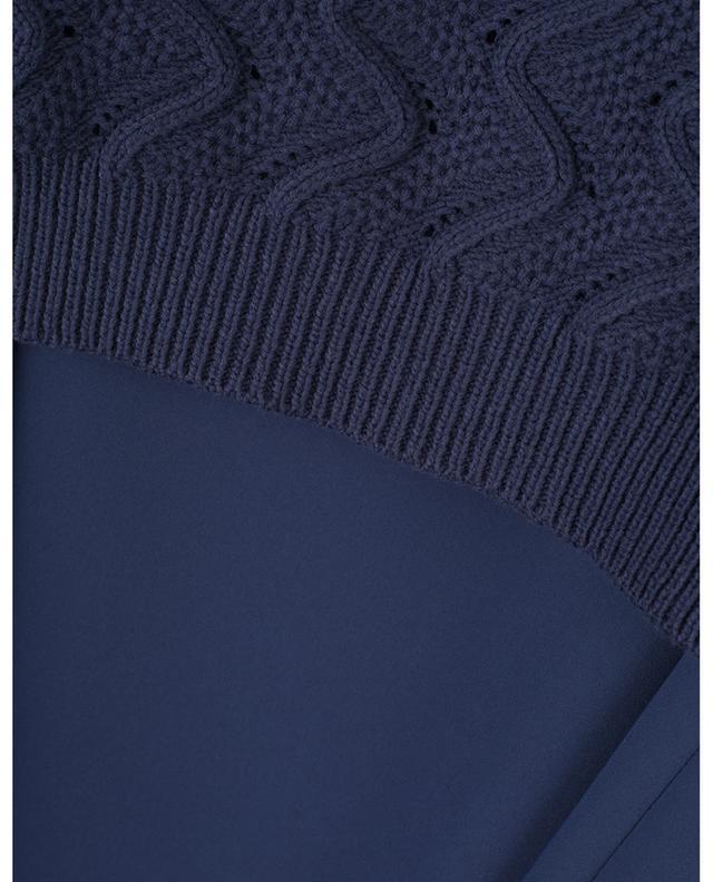 Robe courte en crêpe avec gilet en tricot KENZO