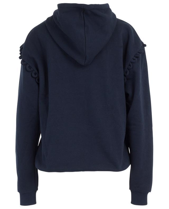 Sweat-shirt à capuche en coton avec festons SEE BY CHLOE