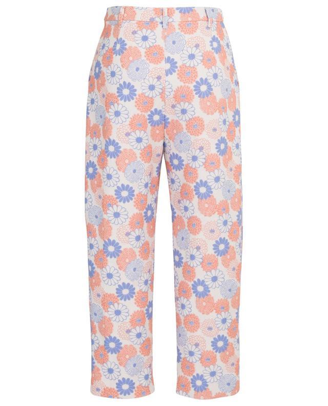 Pantalon carotte raccourci fleuri Ume Flowers KENZO