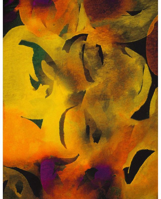 Minirobe trapèze imprimée à col montant Watercolour GANNI