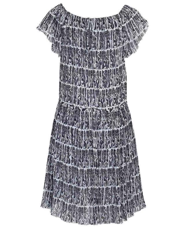 Robe droite en crêpe plissée à volants Mermaids KENZO
