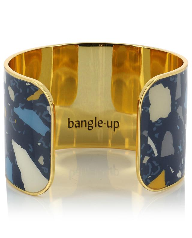 Terazzo 4 blue enamelled cuff BANGLE UP