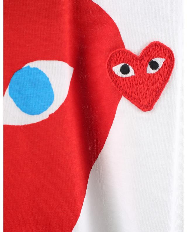 T-shirt imprimé en coton avec patch coeur COMME DES GARCONS PLAY