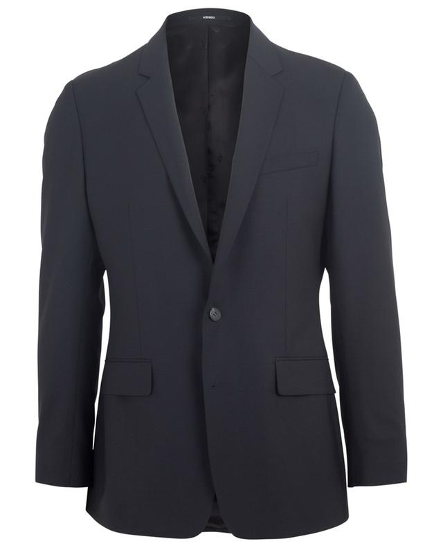 Blazer slim à boutonnière simple en laine stretch KENZO