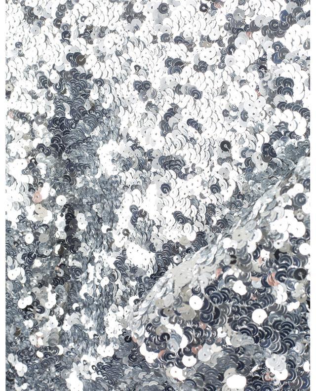 Minirobe couverte de paillettes argentées DOLCE & GABBANA