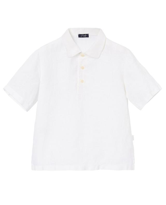 Chemise à manches courtes en lin IL GUFO