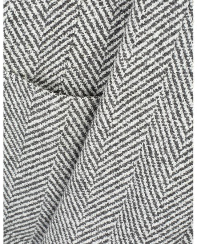 Veste légère en cachemire et soie motifs chevrons BRUNELLO CUCINELLI