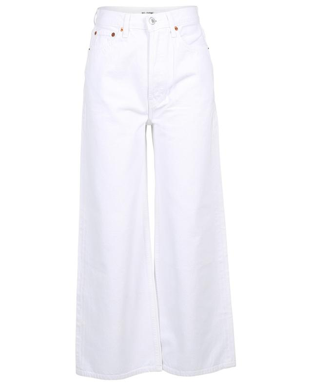 60s Extreme Wide Leg White high-rise jeans RE/DONE