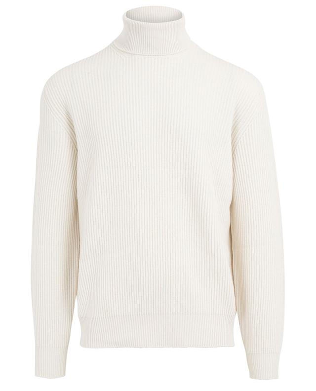 Turtleneck virgin wool, cashmere and silk jumper BRUNELLO CUCINELLI